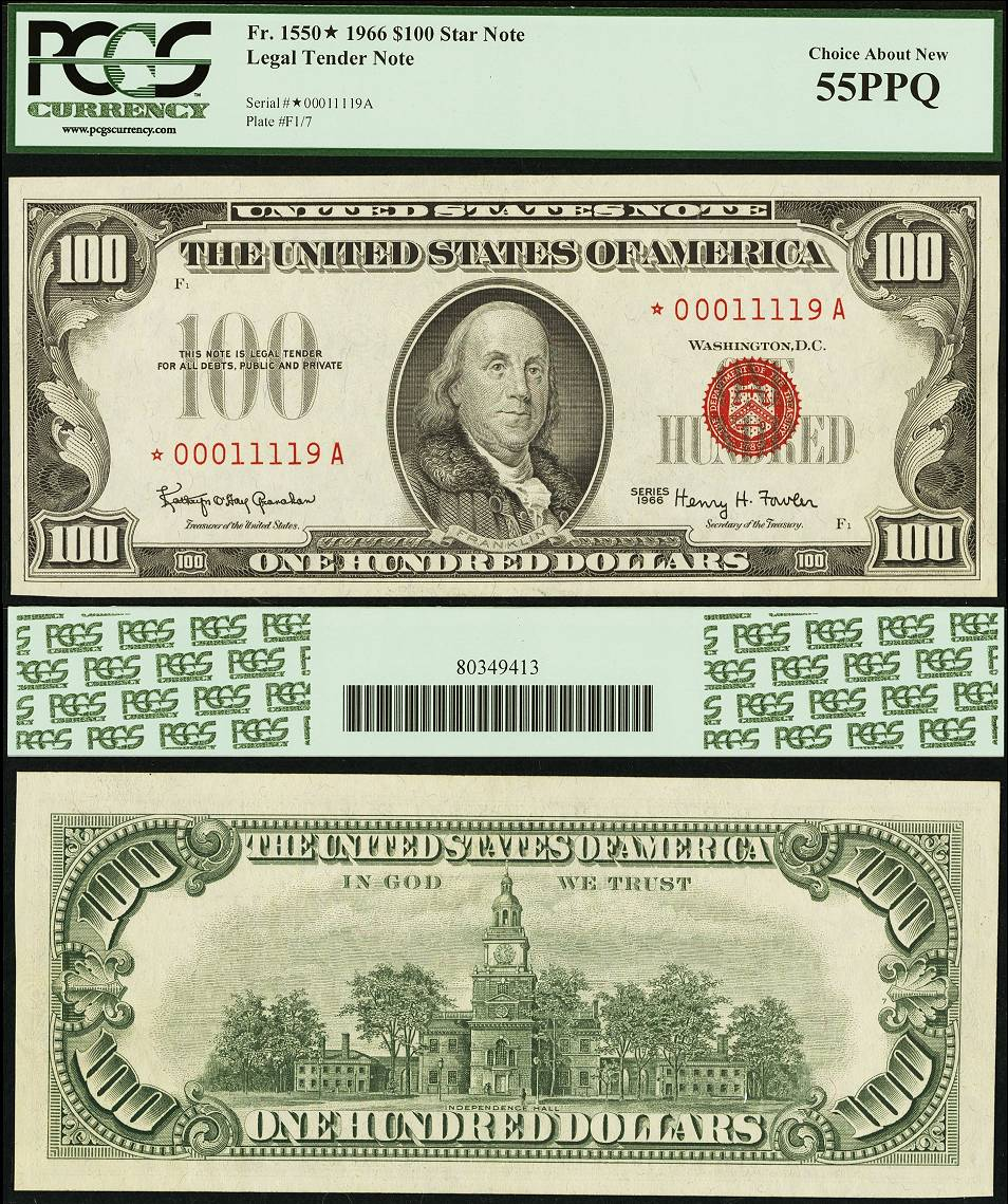 Red serial numbers on us currency